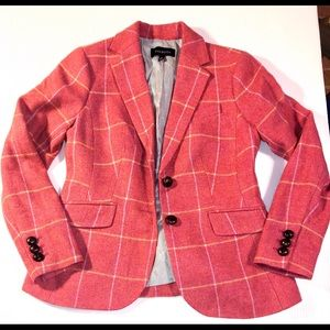 Talbots Pink Window Pane Plaid Blazer, size 4
